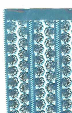German Foil (Dresden) Paper/Scrap - Shell Borders - Light Blue