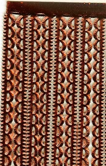 German Foil (Dresden) Paper/Scrap Mini Scalloped Borders - Brown