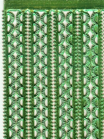 German Foil (Dresden) Paper/Scrap Mini Scalloped Borders - Green