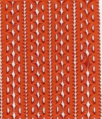 German Foil (Dresden) Paper/Scrap Mini Scalloped Borders Orange