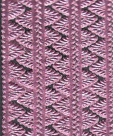 German Foil (Dresden) Paper/Scrap Pennant Point Borders Pink
