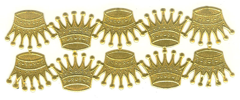 German Foil (Dresden) Paper - 10 Crowns - Gold