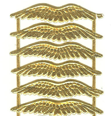 German Foil (Dresden) Paper 24 - 2 Inch Wings - Gold