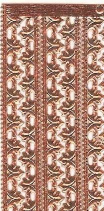 German Foil (Dresden) Paper/Scrap - Fleur Borders - Copper