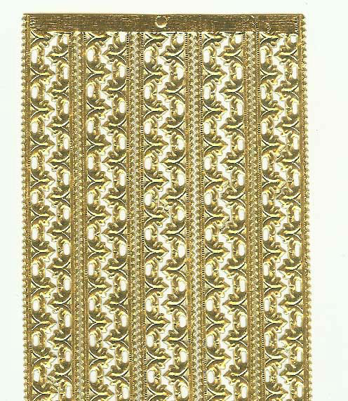 German Foil (Dresden) Paper/Scrap - Fleur Borders - Gold