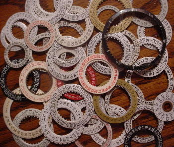 20 Genuine Clock/Watch Date Dial Rings for ATC & Collage Altered