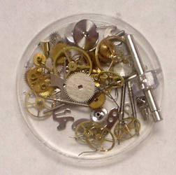 Clock/Watch Innards Parts in Cup - 90 PCS.