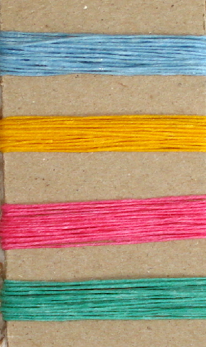 Irish Waxed Linen Book Binding Thread Summer Brights Combo Asst.