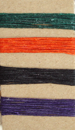 Irish Waxed Linen Book Binding Thread - Halloween Combo Asst.