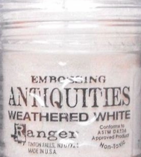 Ranger Adirondack Embossing Powder - Weathered White