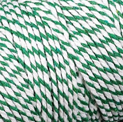 Baker's Twine Cording Green and White Striped - 5 yds.