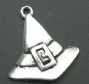 Halloween Silver Witch's Hat Charm