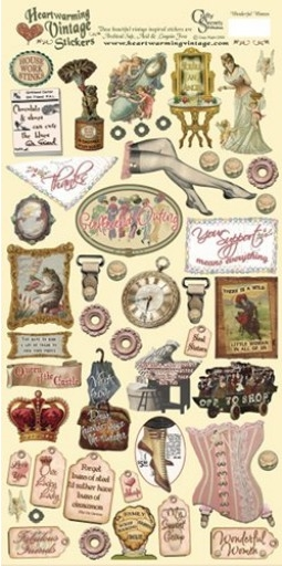 Crafty Secrets Heartwarming Vintage Stickers - Wonderful Women