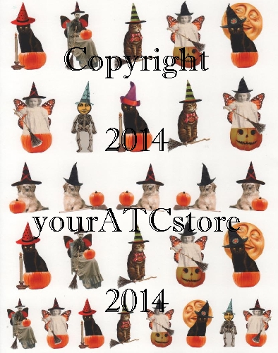 yourATCstore Altered Halloween Cuties Collage Sheet