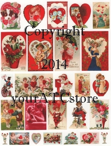 yourATCstore Be My Valentine Collage Sheet #2