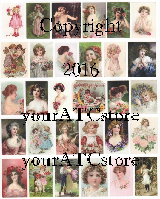 yourATCstore Beauties & Cuties Collage Sheet