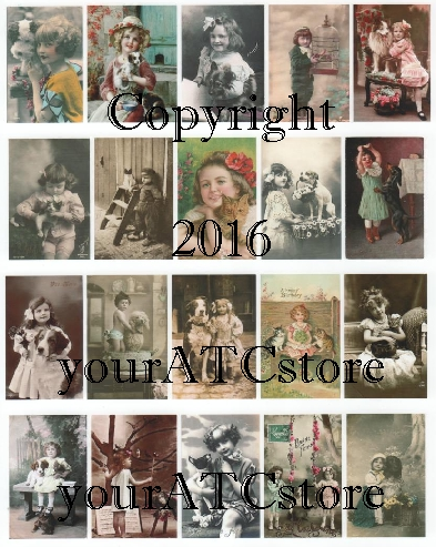 yourATCstore Childhood Lovable Pets Collage Sheet #2