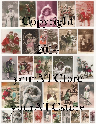yourATCstore Christmas & Winter Snow Cuties Collage Sheet #1