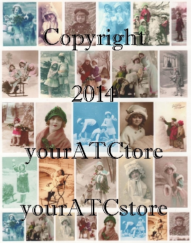 yourATCstore Christmas & Winter Snow Cuties Collage Sheet #2