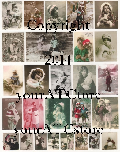yourATCstore Christmas & Winter Snow Cuties Collage Sheet #3