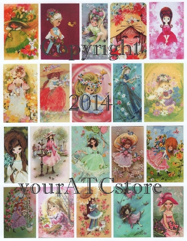 yourATCstore Colorful Spring Girls Glossy Collage Sheet