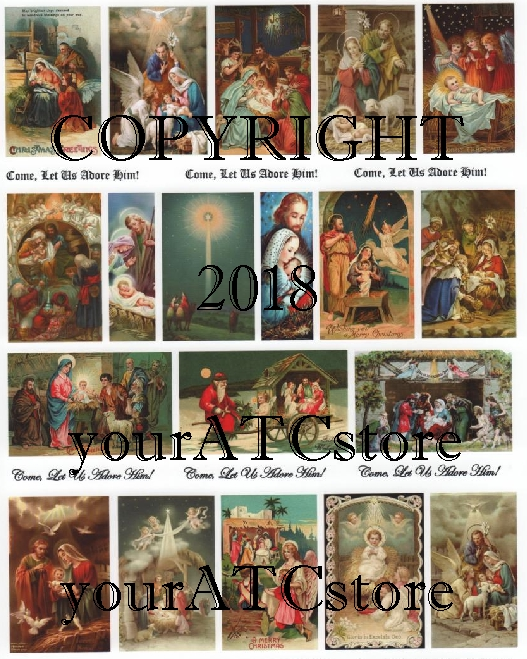 yourATCstore Come, Let Us Adore Him! Nativity Collage Sheet
