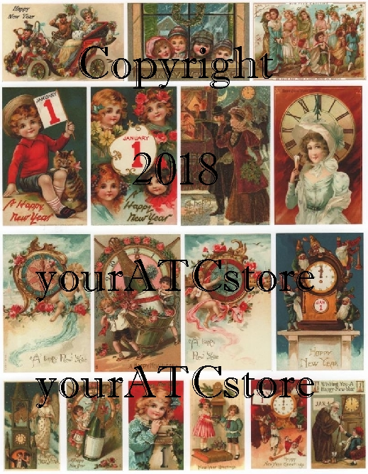 yourATCstore Happy New Year Collage Sheet