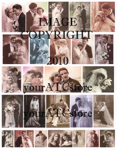 "yourATCstore ""I Do"" Wedding Marriage Collage Sheet"
