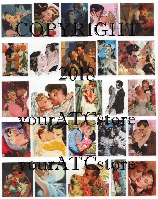 yourATCstore Kiss Me You Fool Collage Sheet
