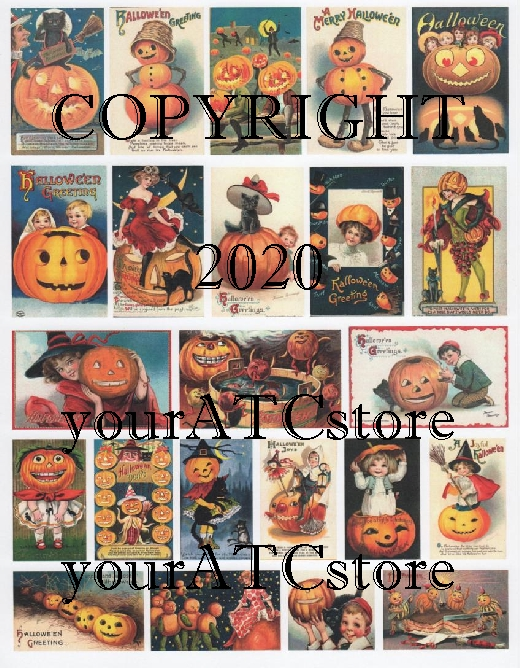 yourATCstore Halloween Pumpkin Cuties Collage Sheet