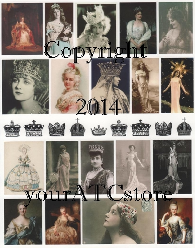 yourATCstore Queens and Crowns Collage Sheet #2