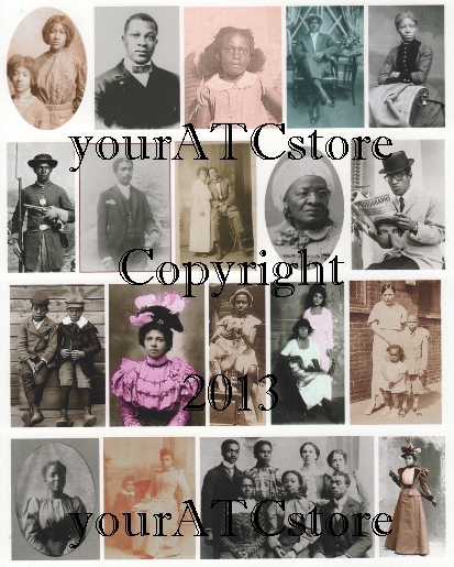yourATCstore African American Portrait Collage Sheet #1