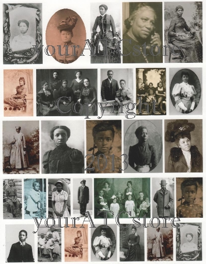 yourATCstore African American Portrait Collage Sheet #2