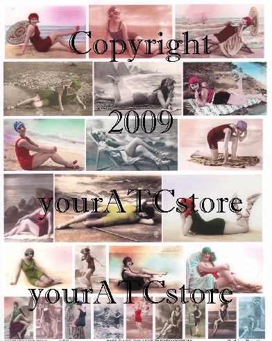 yourATCstore Bathing Beauties By the Sea Collage Sheet