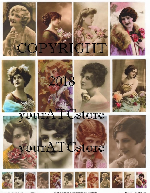 yourATCstore Beauties To Behold Collage Sheet