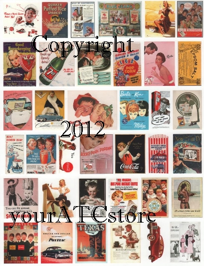 yourATCstore Blast from the Past Advertising Collage Sheet #2
