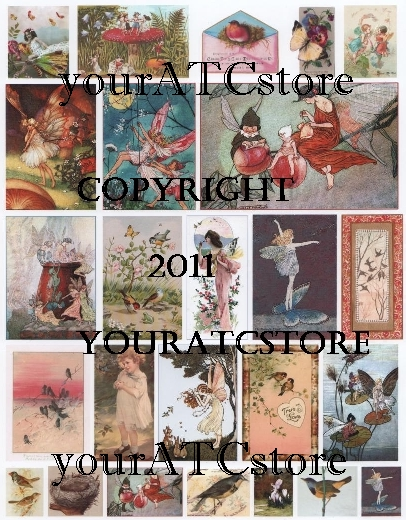 yourATCstore Butterfly Fairies, Birds and More Collage Sheet