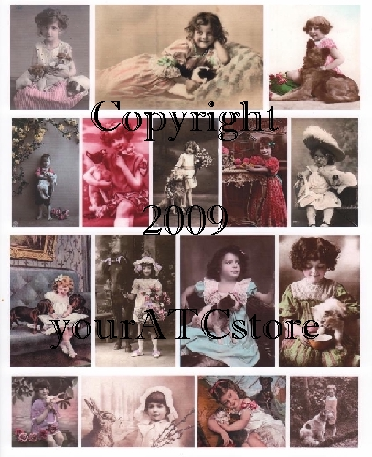 yourATCstore Childhood Lovable Pets Collage Sheet #1