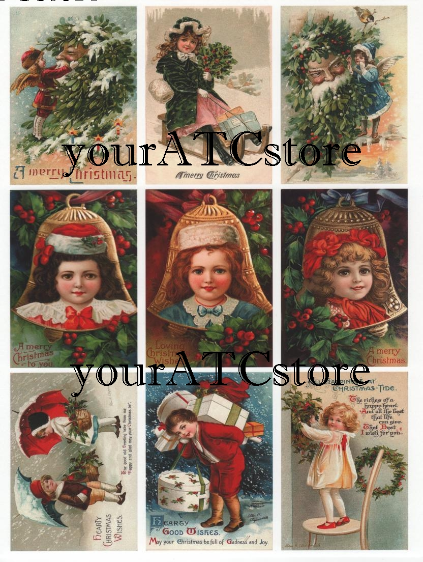 yourATCstore Christmas Children ATC Collage Sheet