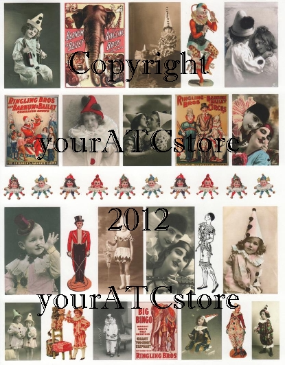 yourATCstore Circus Fun Collage Sheet