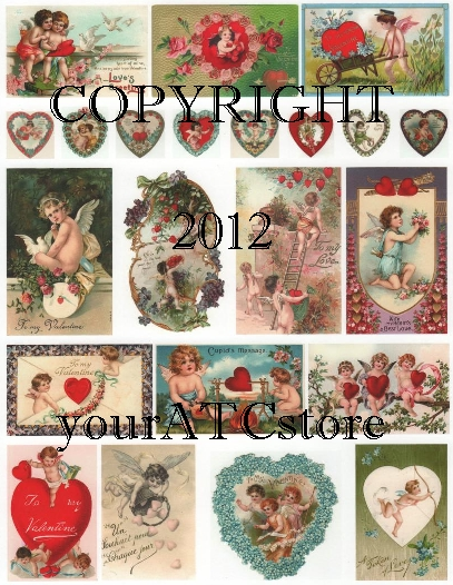 yourATCstore Cupid's of Love 2 Collage Sheet
