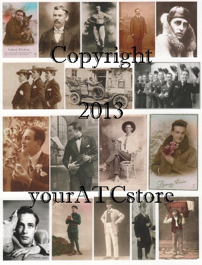 yourATCstore Dapper Men Collage Sheet #1