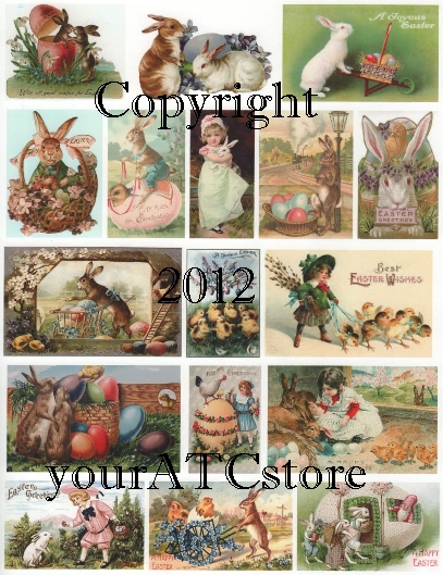 yourATCstore Easter Pastels Collage Sheet #1