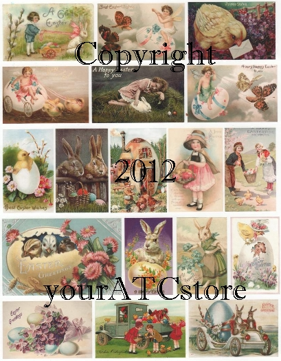 yourATCstore Easter Pastels Collage Sheet #2