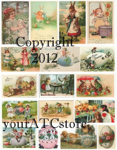 yourATCstore Easter Pastels Collage Sheet #3