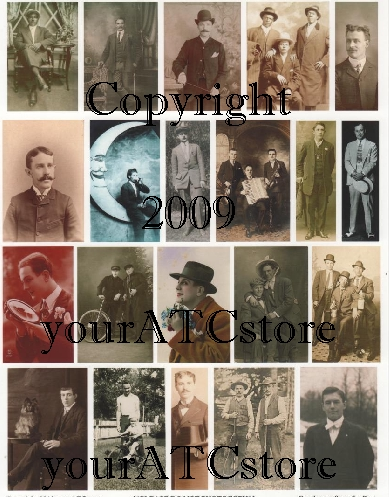 yourATCstore Gentlemen from the Past Collage Sheet