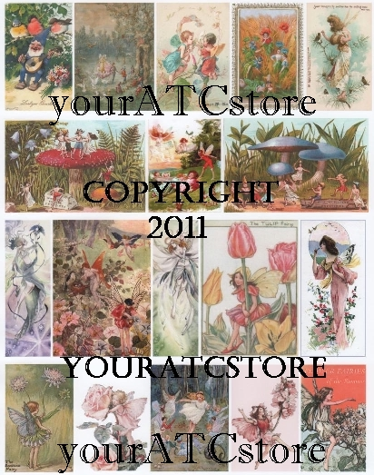 yourATCstore Fairies and Trolls Collage Sheet