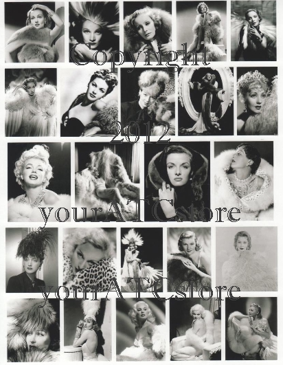 yourATCstore Fur and Feather Actress Beauties Collage Sheet