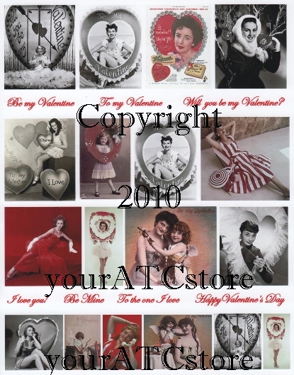 yourATCstore Funky Valentine's Day Collage Sheet