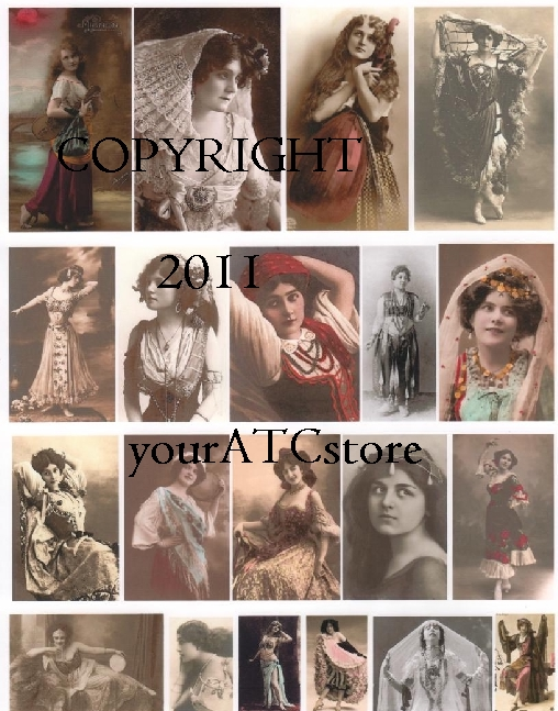 yourATCstore Gypsy in Me Collage Sheet